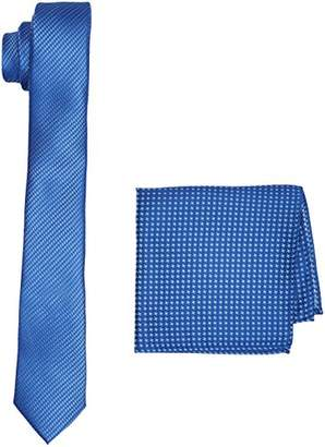 Burton Menswear London Men's Mid Blue Texture Set Ties