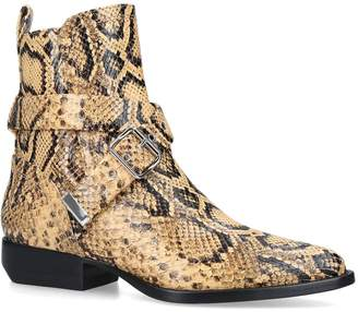 Chloé Snake-Embossed Leather Rylee Boots 20