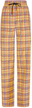 Burberry Check Drawstring Trousers
