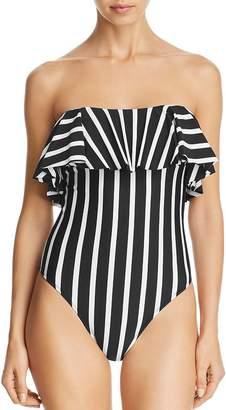 50cf934b66 Milly Stripe Swim Ruffle Tone One Piece Swimsuit