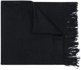 Yohji Yamamoto fringed hem scarf