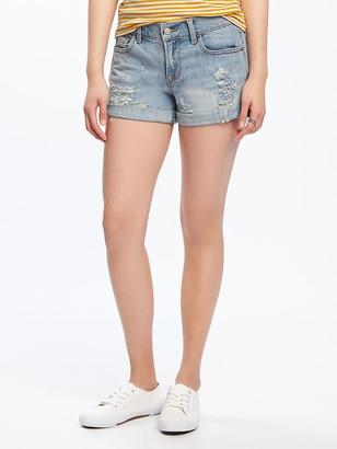"Distressed Boyfriend Denim Shorts for Women (3"") $29.94 thestylecure.com"