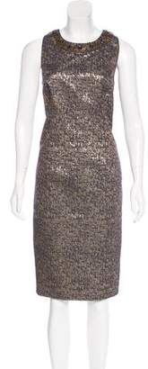 Carmen Marc Valvo Metallic Mini Dress