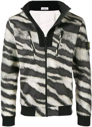 Stone Island animal print zip jacket