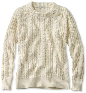L.L. Bean L.L.Bean Rope-Stitch Shaker Sweater, Crewneck
