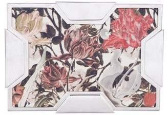 Lee Savage Floral Print Space Clutch