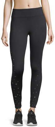 Xersion Metallic Star Pattern Knit Leggings