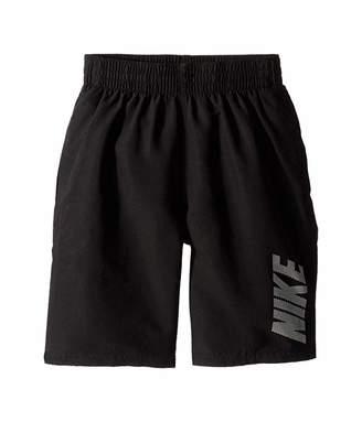 Nike 8 Logo Solid Lap Volley Shorts (Big Kids)
