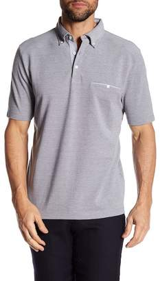 Thomas Dean Point Collar Short Sleeve Regular Fit Polo