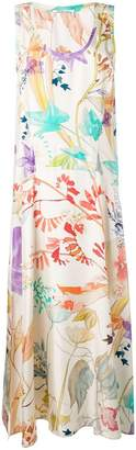 Agnona floral maxi tank dress