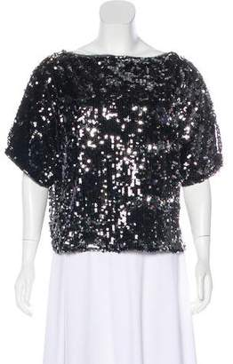 Milly Sequined Short Sleeve Top w/ Tags