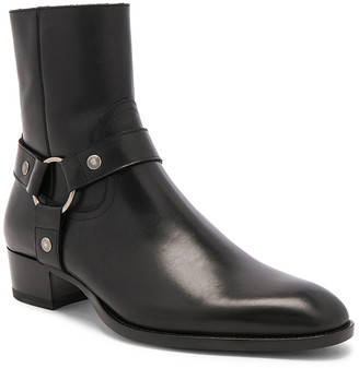 Saint Laurent Leather Wyatt Harness Boots