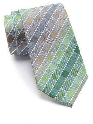 Kenneth Cole Reaction Multi Color Grid Silk Tie