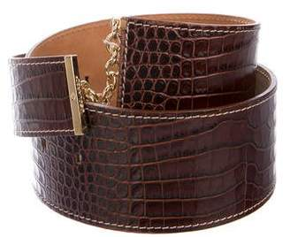 DSQUARED2 Embossed Leather Belt w/ Tags