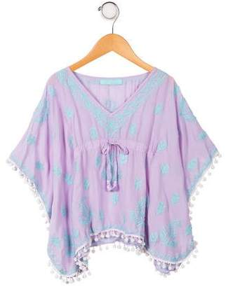 Melissa Odabash Girls' Embroidered Dress