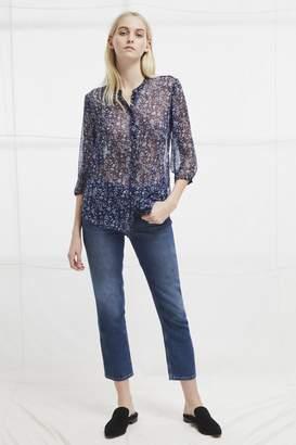 French Connection Savana Crinkle Collarless Shirt