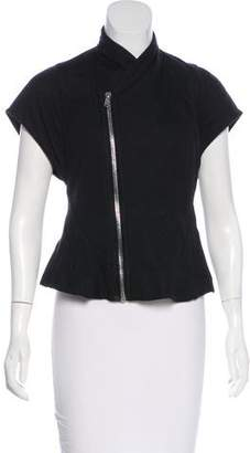 Rick Owens Lilies Cap Sleeve Zip-Up Top w/ Tags