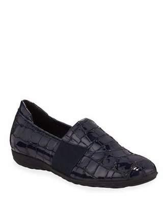 Sesto Meucci Bria Croc-Embossed Leather Athleisure Flats