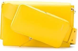 Lanvin logo embossed shoulder bag