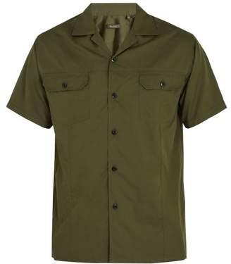 Berluti - Short Sleeved Cotton And Silk Blend Shirt - Mens - Green