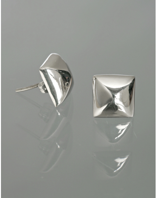 Argento Vivo silver pyramid stud earrings