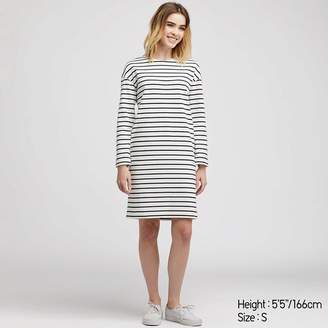 Uniqlo WOMEN Striped Long Sleeve Dress