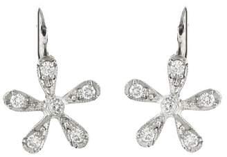 Cathy Waterman Diamond Daisy Earrings - Platinum