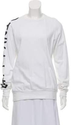 Baja East Crew Neck Long Sleeve Sweatshirt