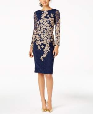 Xscape Evenings Petite Embroidered Lace Sheath Dress