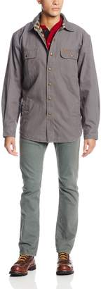 Carhartt Men's Weathered Canvas Shirt Jacket Snap Front