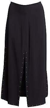 See by Chloe Women's Double Slit Crepe Midi Skirt