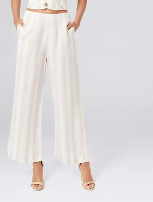 Forever New Marisa Linen Blend Coord Pant Petite - Natural stripe - 6