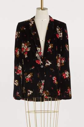 Forte Forte Velvet jacket with floral print