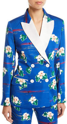 Racil Winston Hawaii Flower-Print Tux Jacket