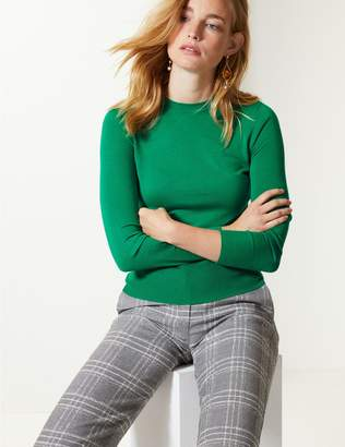 Marks and Spencer Fine Knit Round Neck Long Sleeve Jumper