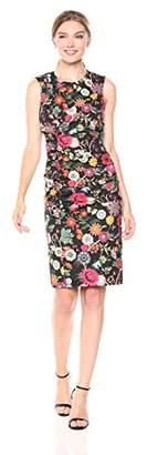 Nicole Miller Women's Floral Nectar Tuck Dress