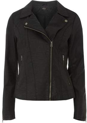 Dorothy Perkins Womens **Only Black Faux Leather Jacket