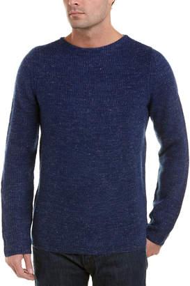 Save Khaki Wool & Linen-Blend Crewneck Sweater