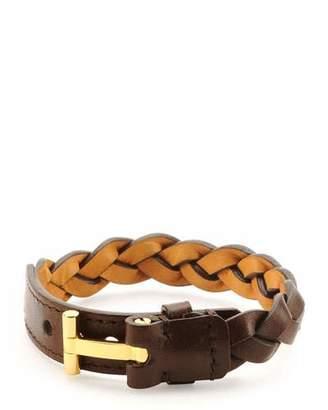 Tom Ford Nashville Men's Braided Leather Bracelet, Light Brown