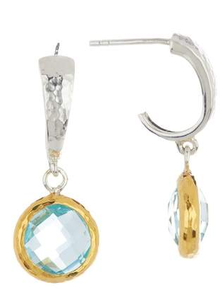 Gurhan Blue Topaz Galapagos Hoop Earrings