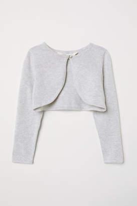 H&M Fine-knit Bolero - Gray