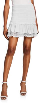 Jonathan Simkhai Lacey Tiered Ruffle Mini Skirt