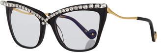 Karlsson Anna Karin Lusciousness Divine Cat-Eye Crystal Optical Frames, Black