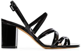 Maryam Nassir Zadeh black Ira 85 strappy patent leather sandals
