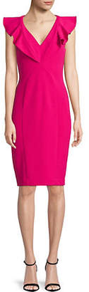 Rachel Roy Lydia Ruffle Midi Sheath Dress