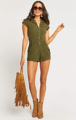 Show Me Your Mumu Outlaw Romper ~ Cypress Corduroy