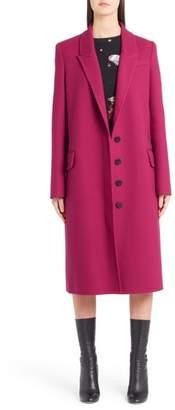 Alexander McQueen Long Wool & Cashmere Coat