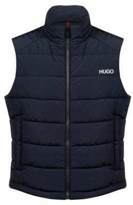 1bf87a40696 HUGO Water-repellent quilted gilet with partially concealed rear logo