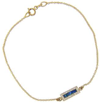 Jennifer Meyer Opal Inlay And Diamond Bar Bracelet