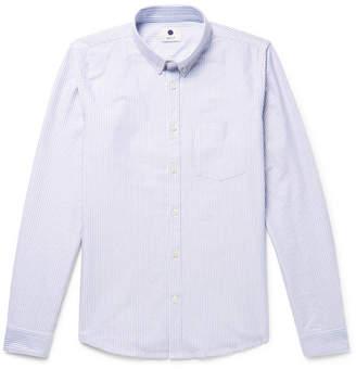 NN07 Sixten Slim-Fit Button-Down Collar Striped Cotton Oxford Shirt